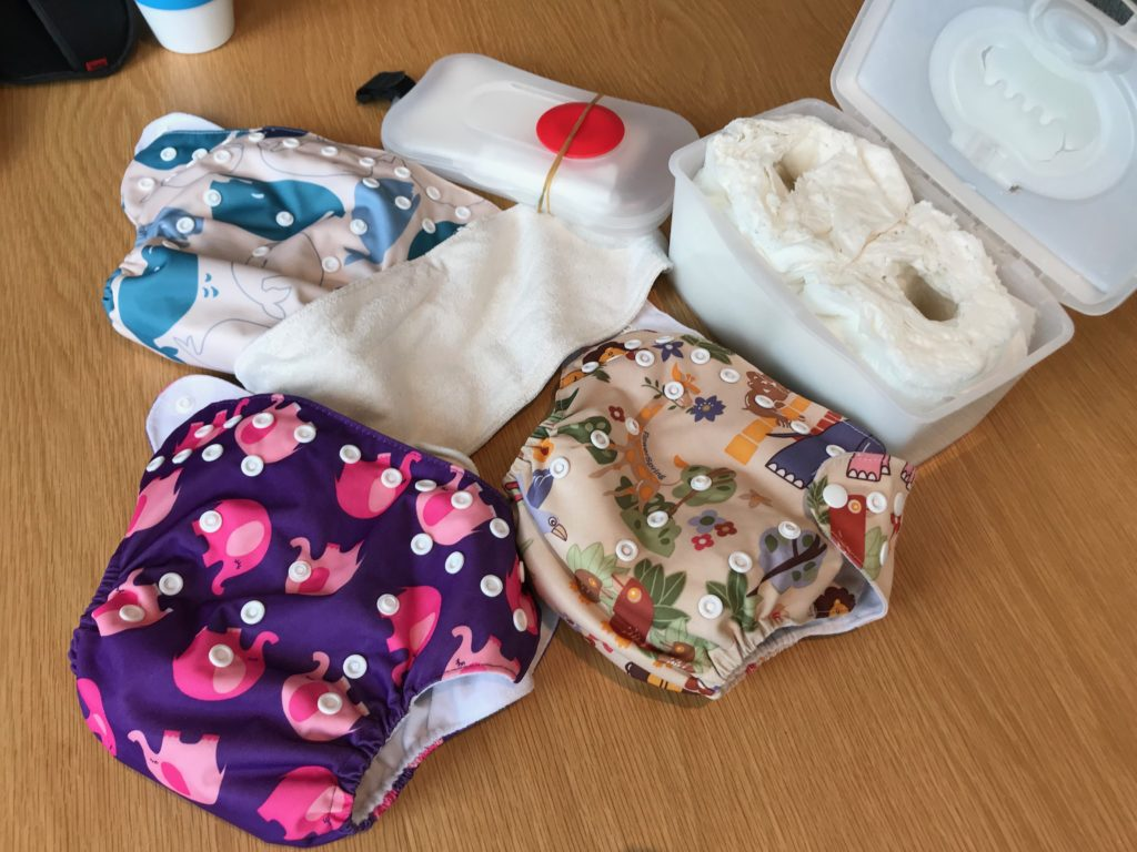 Reusable nappies and homemade wipes