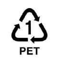 PET 1 recycling symbol