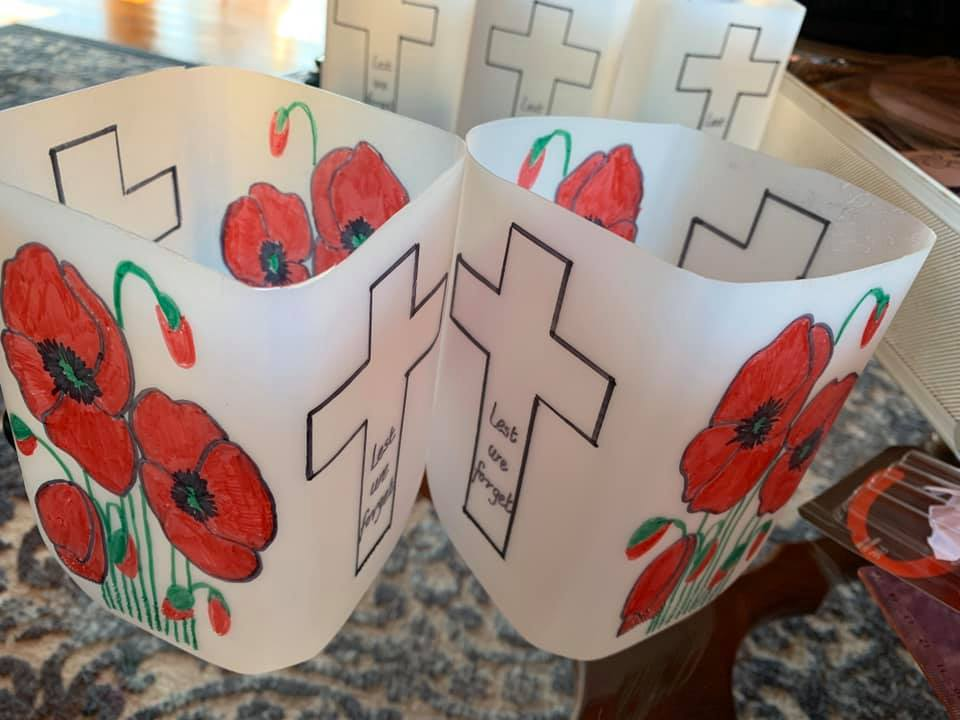 Repurposing milk bottles for Anzac arts and crafts